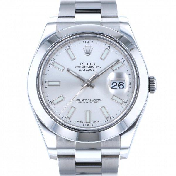 【全品 ポイント10倍 4/9~4/16】ロレックス ROLEX デイトジャスト II 116300 シルバー文字盤 メンズ 腕時計 【中古】