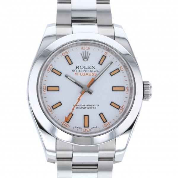 【全品 ポイント10倍 4/9~4/16】ロレックス ROLEX ミルガウス 116400 ホワイト文字盤 メンズ 腕時計 【中古】