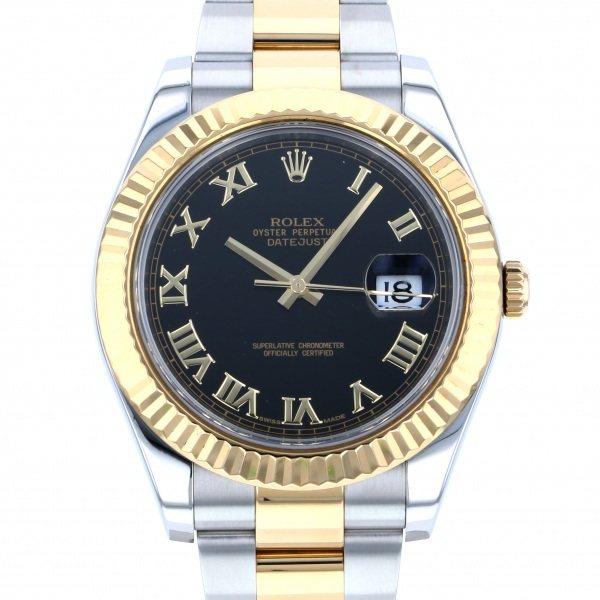 ロレックス ROLEX デイトジャスト II 116333 ブラックローマ文字盤 メンズ 腕時計 【中古】