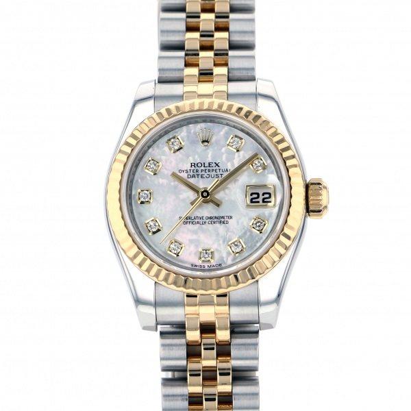 激安人気新品 ロレックス ROLEX デイトジャスト 179173NG ホワイト文字盤  腕時計 レディース, ミカモチョウ fafcc76f