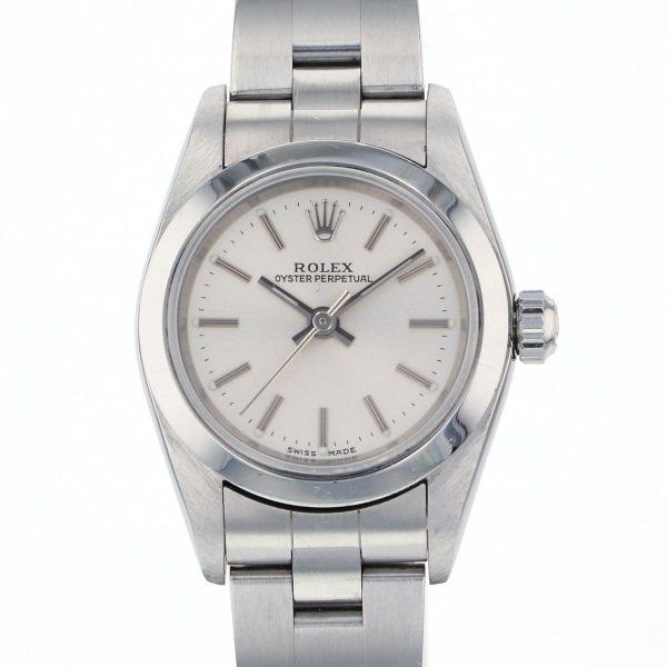 ロレックス ROLEX オイスターパーペチュアル 76080 シルバー文字盤 レディース 腕時計 【中古】