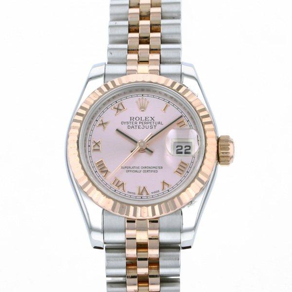ロレックス ROLEX デイトジャスト 179171 ピンクローマ文字盤 レディース 腕時計 【中古】