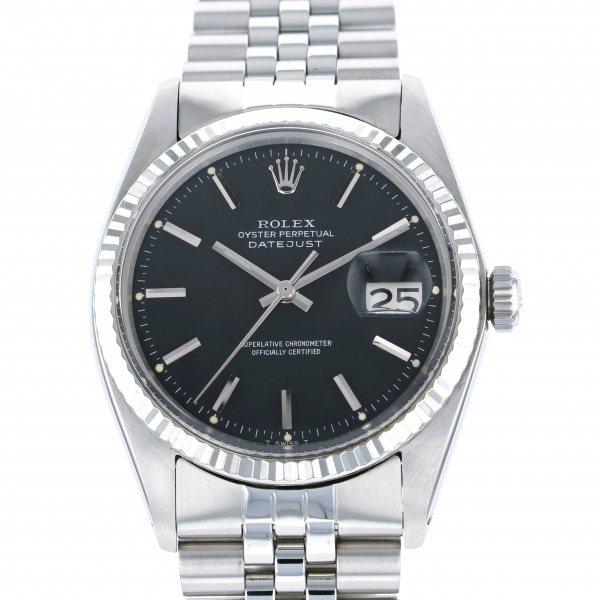 【全品 ポイント10倍 4/9~4/16】ロレックス ROLEX デイトジャスト 1601 ブラック文字盤 メンズ 腕時計 【中古】