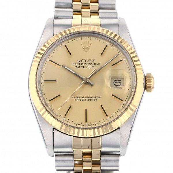ロレックス ROLEX デイトジャスト 16013 シャンパン文字盤 メンズ 腕時計 【中古】