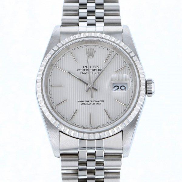 ロレックス ROLEX デイトジャスト 16220 シルバー文字盤 メンズ 腕時計 【中古】