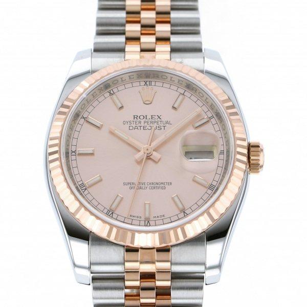 【全品 ポイント10倍 4/9~4/16】ロレックス ROLEX デイトジャスト 116231 ピンク文字盤 メンズ 腕時計 【中古】