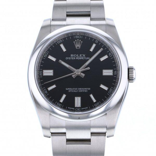 【全品 ポイント10倍 4/9~4/16】ロレックス ROLEX オイスターパーペチュアル 36 116000 ブラック文字盤 メンズ 腕時計 【中古】
