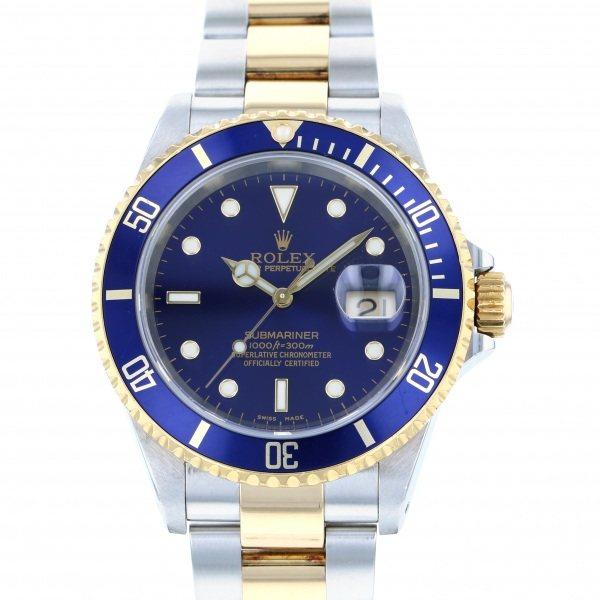 ロレックス ROLEX サブマリーナ デイト 16613 ブルー文字盤 メンズ 腕時計 【中古】