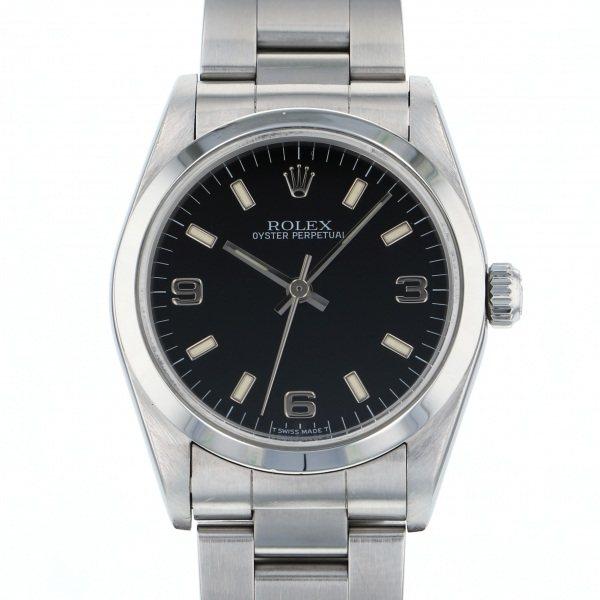 【全品 ポイント10倍 4/9~4/16】ロレックス ROLEX オイスターパーペチュアル 67480 ブラック文字盤 メンズ 腕時計 【中古】