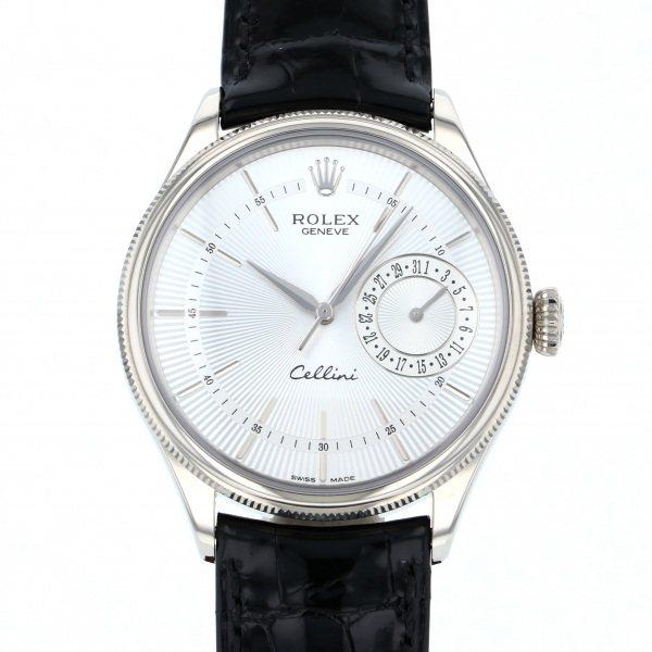 【全品 ポイント10倍 4/9~4/16】ロレックス ROLEX チェリーニ デイト 50519 シルバー文字盤 メンズ 腕時計 【中古】