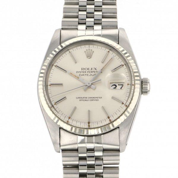 ロレックス ROLEX デイトジャスト 16014 シルバー文字盤 メンズ 腕時計 【中古】