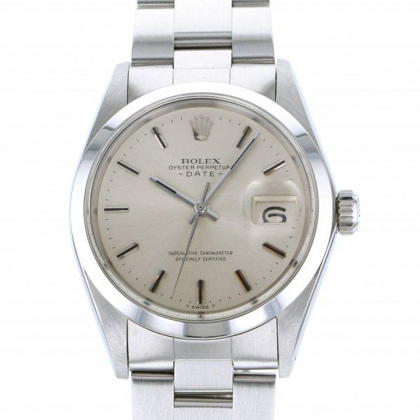 【全品 ポイント10倍 4/9~4/16】ロレックス ROLEX オイスターパーペチュアル デイト 1500 シルバー文字盤 メンズ 腕時計 【中古】