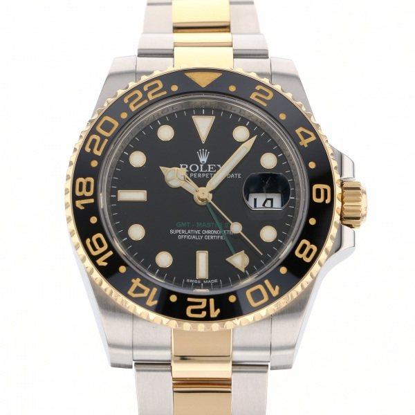 【全品 ポイント10倍 4/9~4/16】ロレックス ROLEX GMTマスター II 116713LN ブラック文字盤 メンズ 腕時計 【中古】