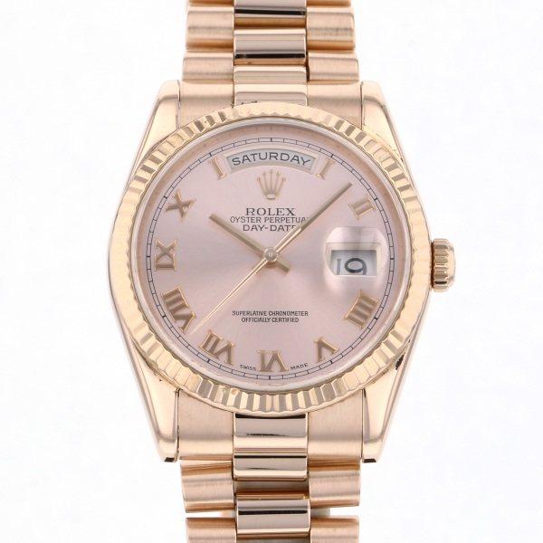 【期間限定ポイント5倍 5/5~5/31】 ロレックス ROLEX デイデイト 118235 ピンクローマ文字盤 メンズ 腕時計 【中古】