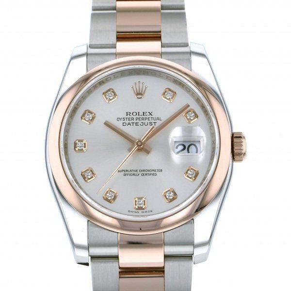 【全品 ポイント10倍 4/9~4/16】ロレックス ROLEX デイトジャスト 116201G シルバー文字盤 メンズ 腕時計 【中古】