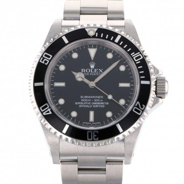 【全品 ポイント10倍 4/9~4/16】ロレックス ROLEX サブマリーナ 14060M ブラック文字盤 メンズ 腕時計 【中古】