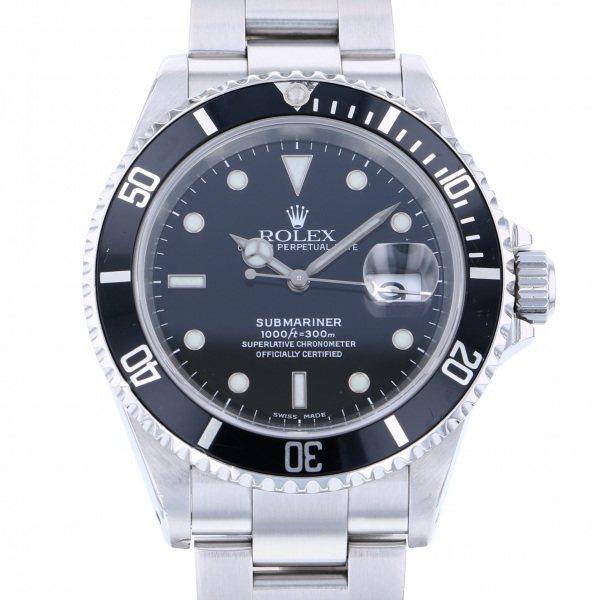 【全品 ポイント10倍 4/9~4/16】ロレックス ROLEX サブマリーナ デイト 16610 ブラック文字盤 メンズ 腕時計 【中古】