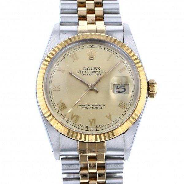 ロレックス ROLEX デイトジャスト 16013 シャンパンローマ文字盤 メンズ 腕時計 【中古】