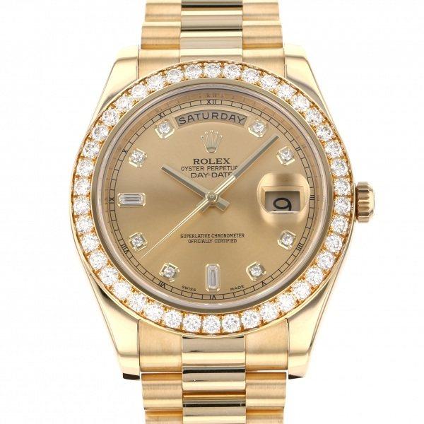 ロレックス ROLEX デイデイト II 218348A シャンパン文字盤 メンズ 腕時計 【中古】