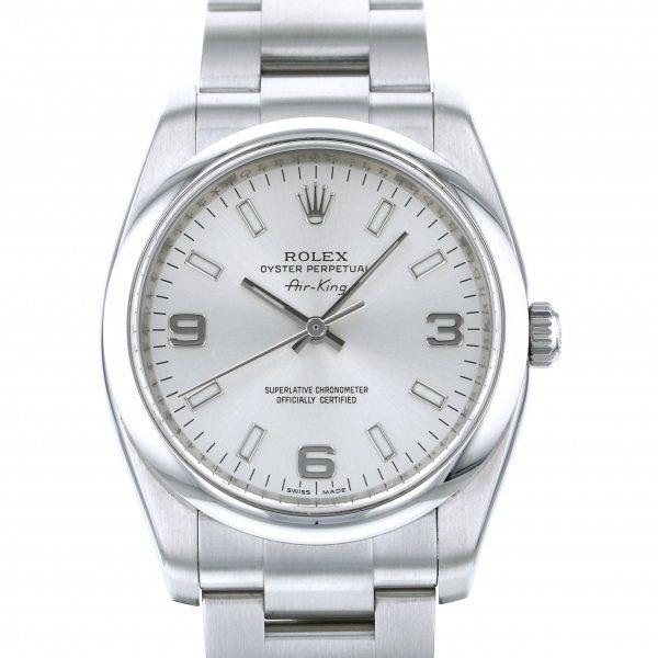 ロレックス ROLEX エアキング 114200 シルバー文字盤 メンズ 腕時計 【中古】