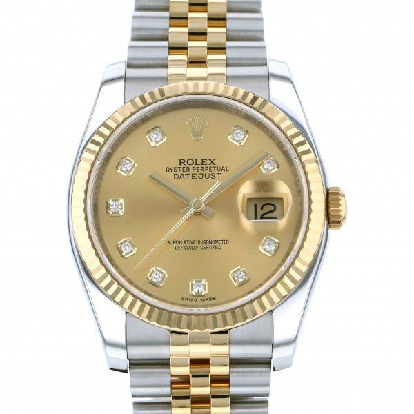 ロレックス ROLEX デイトジャスト 116233G シャンパン文字盤 メンズ 腕時計 【中古】