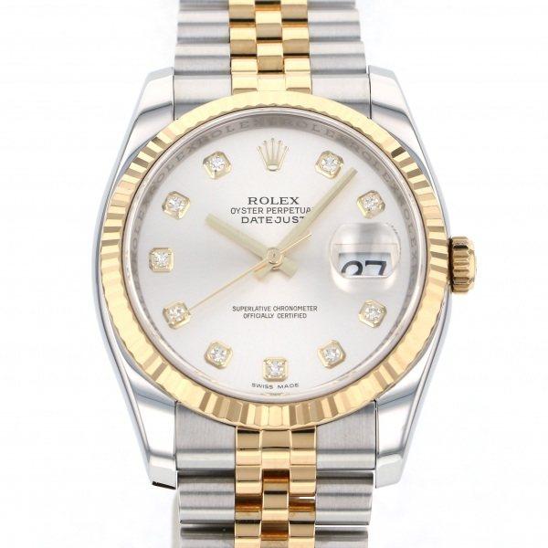 【全品 ポイント10倍 4/9~4/16】ロレックス ROLEX デイトジャスト 116233G シルバー文字盤 メンズ 腕時計 【中古】