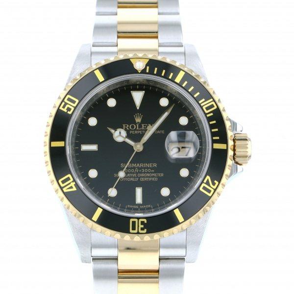 【全品 ポイント10倍 4/9~4/16】ロレックス ROLEX サブマリーナ デイト 16613LN ブラック文字盤 メンズ 腕時計 【中古】