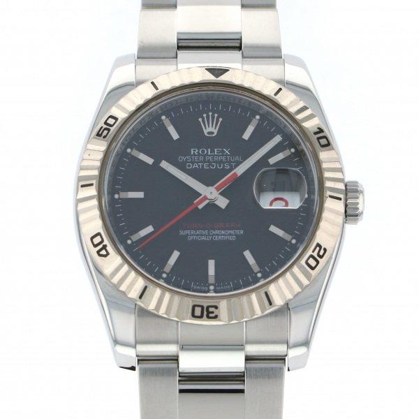 ロレックス ROLEX デイトジャスト ターノグラフ 116264 ブラック文字盤 メンズ 腕時計 【中古】
