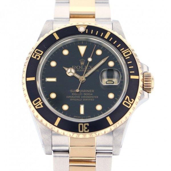 ロレックス ROLEX サブマリーナ デイト 16803 ブラック文字盤 メンズ 腕時計 【中古】