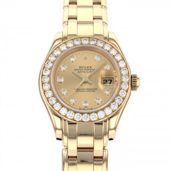 ロレックス ROLEX デイトジャスト パールマスター 69298G シャンパン文字盤 レディース 腕時計 【中古】