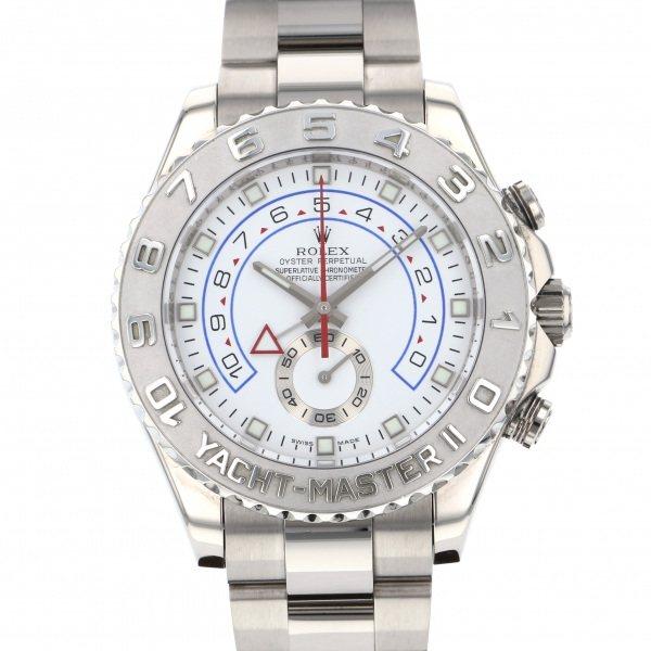 【全品 ポイント10倍 4/9~4/16】ロレックス ROLEX ヨットマスター II 116689 ホワイト文字盤 メンズ 腕時計 【中古】