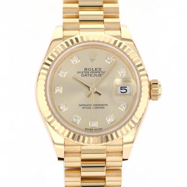 ロレックス ROLEX デイトジャスト 279178G シャンパン文字盤 レディース 腕時計 【中古】