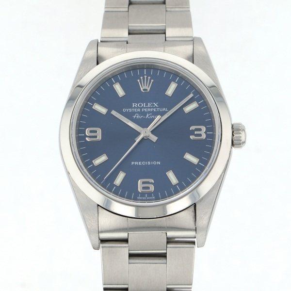 ロレックス ROLEX エアキング 14000M ブルー文字盤 メンズ 腕時計 【中古】