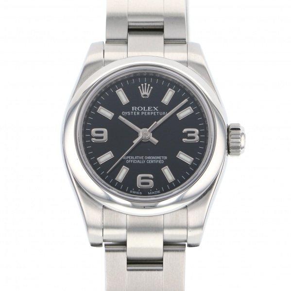 【期間限定ポイント5倍 5/5~5/31】 ロレックス ROLEX オイスターパーペチュアル 176200 ブラック文字盤 レディース 腕時計 【中古】