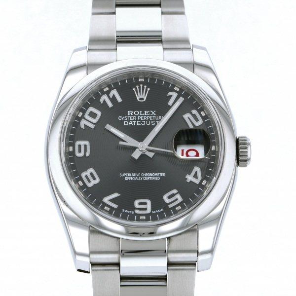 ロレックス ROLEX デイトジャスト 116200 ブラックアラビア文字盤 メンズ 腕時計 【中古】