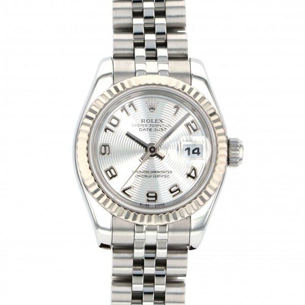 ロレックス ROLEX デイトジャスト 179174 シルバーアラビア文字盤 レディース 腕時計 【中古】