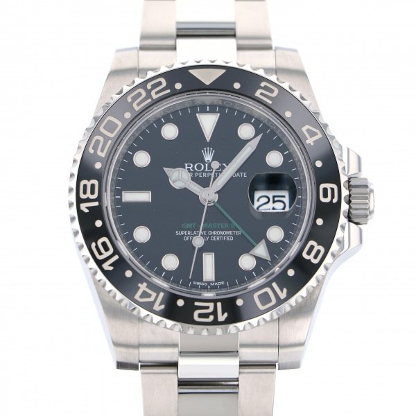 【ファッション通販】 ロレックス GMTマスター ROLEX GMTマスター II 116710LN ブラック文字盤 腕時計 116710LN ロレックス メンズ, 瑞浪市:787782f7 --- progsite.com