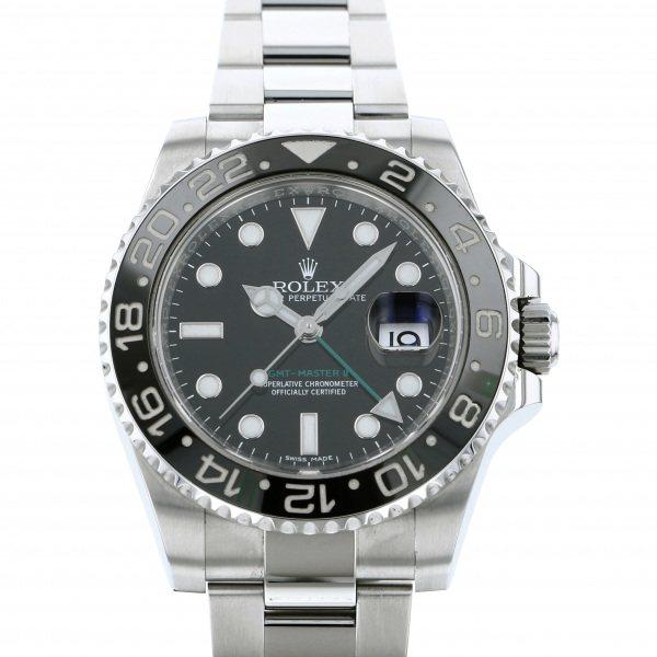 ロレックス ROLEX GMTマスター II 116710LN ブラック文字盤 メンズ 腕時計 【中古】