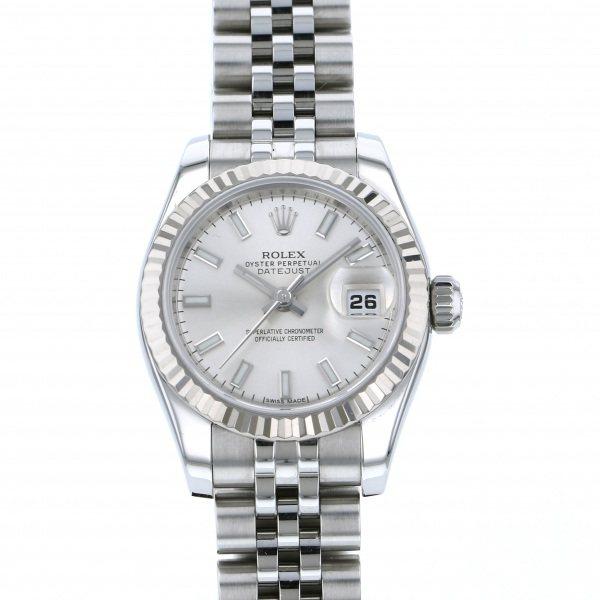 ロレックス ROLEX デイトジャスト 179174 シルバー文字盤 レディース 腕時計 【中古】