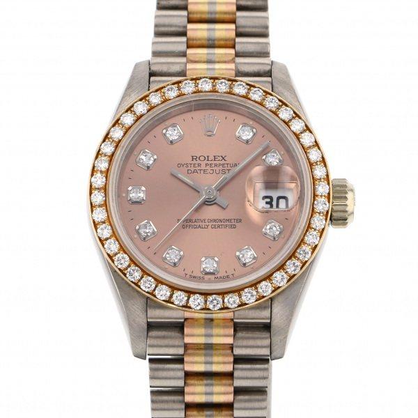 ロレックス ROLEX デイトジャスト トリドール 69139G シャンパン文字盤 レディース 腕時計 【中古】