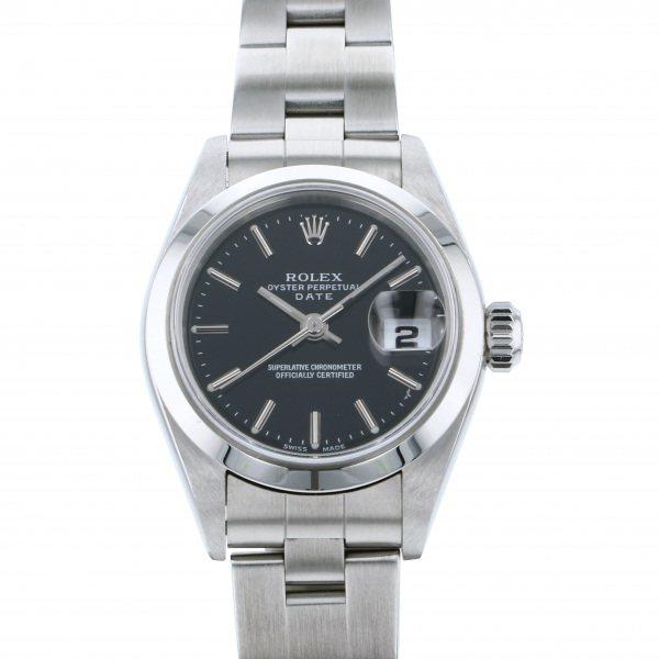ロレックス ROLEX オイスターパーペチュアル デイト 79160 ブラック文字盤 レディース 腕時計 【中古】