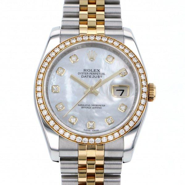ロレックス ROLEX デイトジャスト 116243NG ホワイト文字盤 メンズ 腕時計 【中古】