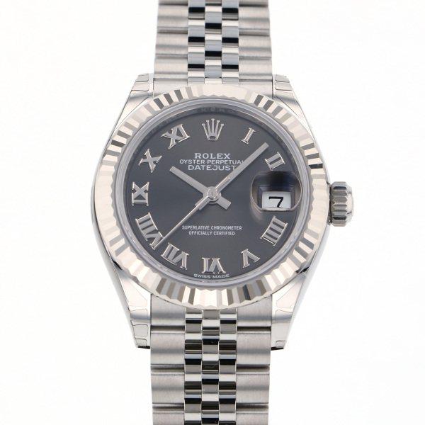 【期間限定ポイント5倍 5/5~5/31】 ロレックス ROLEX デイトジャスト 28 279174 グレーローマ文字盤 レディース 腕時計 【新品】