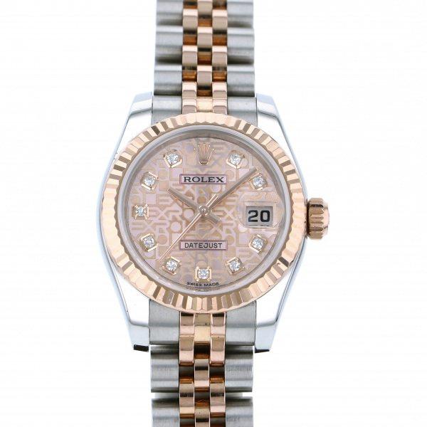 ロレックス ROLEX デイトジャスト 179171G ピンク文字盤 レディース 腕時計 【中古】