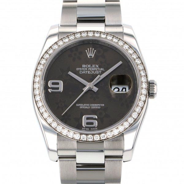 ロレックス ROLEX デイトジャスト 116244 ブラウンフラワー文字盤 メンズ 腕時計 【中古】