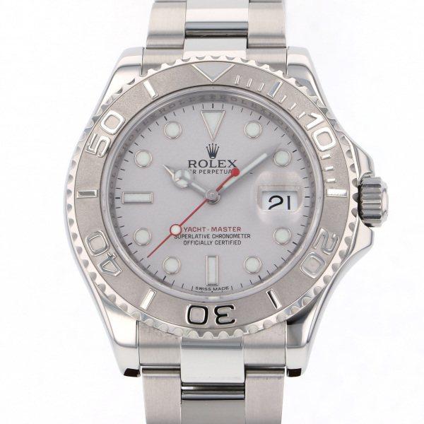 ロレックス ROLEX ヨットマスター ロレジウム 116622 シルバー文字盤 メンズ 腕時計 【中古】