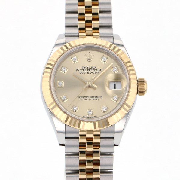 ロレックス ROLEX デイトジャスト 28 279173G シャンパン文字盤 レディース 腕時計 【中古】