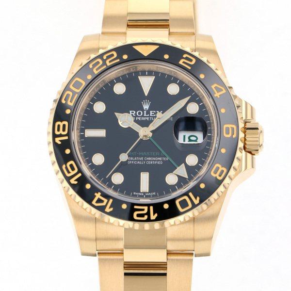 ロレックス ROLEX GMTマスター II 116718LN ブラック文字盤 メンズ 腕時計 【新品】