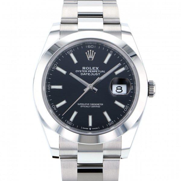 ロレックス ROLEX デイトジャスト 41 126300 ブラック文字盤 メンズ 腕時計 【新品】