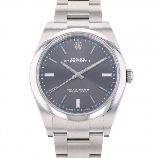 ロレックス ROLEX オイスターパーペチュアル 39 114300 ダークロジウム文字盤 メンズ 腕時計 【新品】